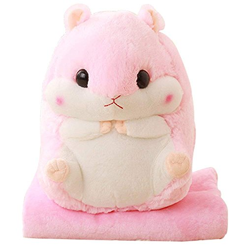 Bear Panda Kostüm Hunde Für - YunNasi 2 in 1 gefüllt Fat Hamster mit Plüsch Kissen und warm Bezug für Decke und Kinder rose