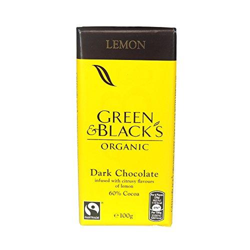 Green & Black's Dark with Lemon 100g Bar (Box of 15)
