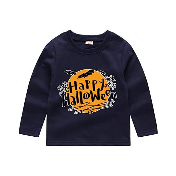 HAOHEYOU T Shirt Tops NiñIto Bebé NiñOs Muchachos Chicas VíSpera De Todos Los Santos ImpresióN Camisa De Entrenamiento… 2