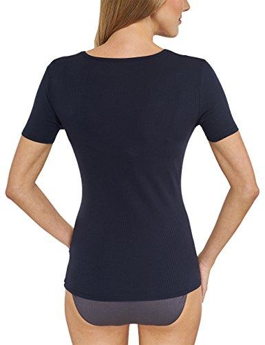 Schiesser - Long Life Cotton Shirt 1/2 Arm, Vestaglia Donna Nero  (Blauschwarz 001)