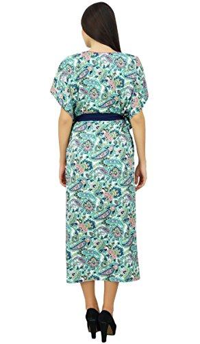 Bimba Long de polyester avec le designer ceinture plage couvrir robe maxi Blanc