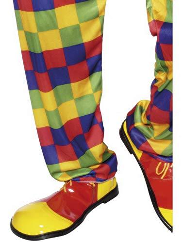 Luxuspiraten - Kostüm Accessoires Zubehör Zirkus Clown Schuhe Deluxe, perfekt für Karneval, Fasching und Fastnacht, Gelb
