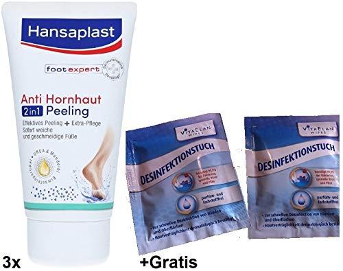 Anti Hornhaut Peeling von Hansaplast 3x 75ml Gratis 2x Desinfektionstuch