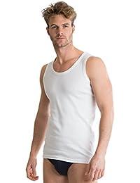 Octave® 6 pack Mens souple 100% coton peigné Gilets classiques noir ou blanc