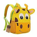 TEAMEN® Zaino per bambini, Animale Scuola Borsa, Zaino per bambino,ragazzi, ragazze da 2 - 5 età (giraffa)