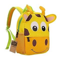 Idea Regalo - teamen Zaino per bambini Animal Scuola Borsa Zaino per bambini bambino ragazzi ragazze bambino 2 – 6 età (giraffa)
