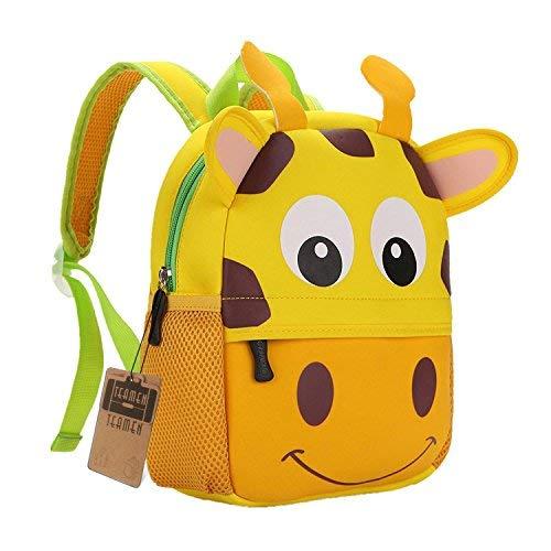 TEAMEN Zaino per bambini, Animale Scuola Borsa, Zaino per bambino,ragazzi, ragazze da 2 - 5 età (giraffa)