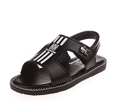 Ohmais Enfants Garçons Chaussure sandale premier pas Escarpin Noir