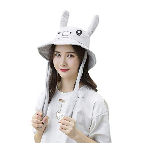 Bunny Einfach Kostüm - Sommer Lustig Hut Ohr Moving Bunny Kopf Hut mit Tier Ohr Prellen Cosplay - Grau