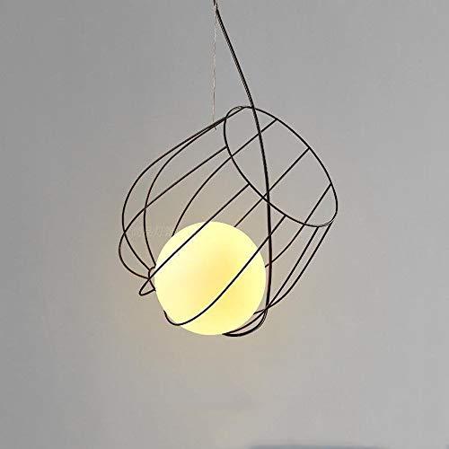 Kreative Glas Lampenschirm Decke Hängen Licht Einfache Metall Stent Eisen Pendelleuchte Leuchte Restaurant Clubhouse Kaffee Restaurant Droplight Kette Einstellbare Kronleuchter - Quoizel Deckenleuchte Kronleuchter
