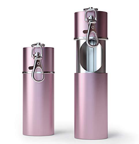 Zigaretten Taschenascher Taschenaschenbecher geruchsdicht | Reise-Aschenbecher - Aschenbecher für unterwegs - Aschenbecher to go (Rosé Gold)