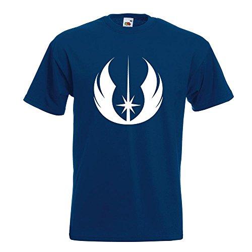 KIWISTAR - Jedi Orden T-Shirt in 15 verschiedenen Farben - Herren Funshirt bedruckt Design Sprüche Spruch Motive Oberteil Baumwolle Print Größe S M L XL XXL Navy
