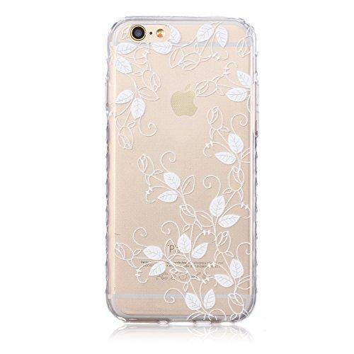 Pour Apple iPhone 6S/ 6 4.7 Zoll Coque,Ecoway Housse étui en TPU Silicone Shell Housse Coque étui Case Cover Cuir Etui Housse de Protection Coque Étui Apple iPhone 6S/ 6 4.7 Zoll –hibou Morning Glory