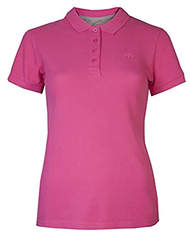 Womens Polo T-Shirts Pique Tops Short Sleeved Brody & Co® Sportswear Golf Tennis Gym (14, Cerise)