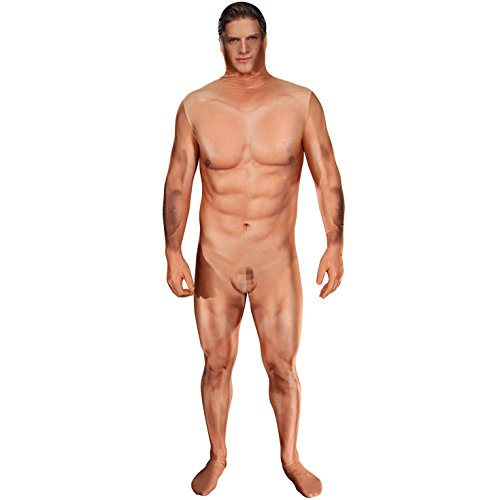 Morphsuit Amazing Faux Real 3D Print Naked Hillbilly Naked Man Billy Bob Costume (Naked Censored Man Costume) (MEDIUM 5
