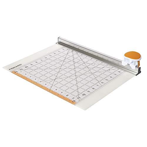 """Fiskars Rollmesser mit Lineal, 12\"""" x 12\"""", Orange/Weiß, 1016264"""