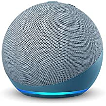 All-new Echo Dot (4th Gen) | Next generation smart speaker with powerful bass and Alexa (Blue)