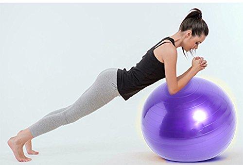 Good Times Gymnastikball, anti burst, Yogaball, Pilatesball, Fitnessball, Sitzball mit Pumpe, rutschfest, berstsicher (65cm Hellgrün) - 4