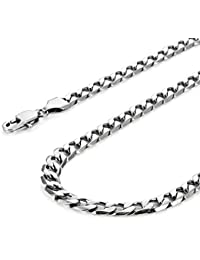 Urban-Jewellery Classic Men Necklace 316L Stainless Steel Silver Chain Colour 46, 54, 59 cm, (6 mm)
