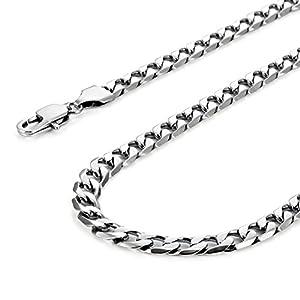 Urban-Jewelry Klassische Herren Halskette 316L Edelstahl Silber Kette Farbe 46, 54, 59 cm, (6mm)