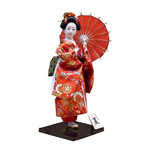 """Zufälliger Stil - 12 \""""japanische Geisha Puppe mit traditionellen Vintage Kimono - A9"""