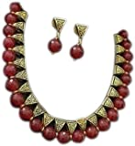 Saraa Red Gold Plated Jewellery Set for Wom