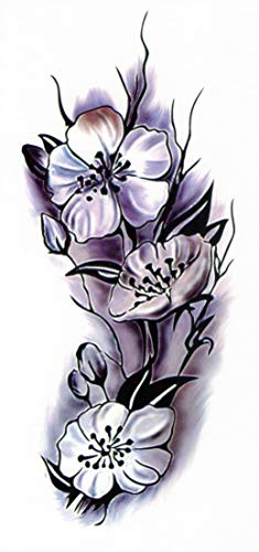 Temporanei tattoos temporary tattoo falso tattoo-weisse rose -