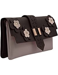 JFL Fancy Stylish PU Synthetic Leather Clutch Hand Bags With Adjustable Sling Belt For Women's And Girls