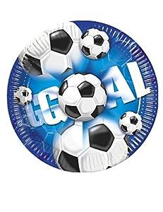 Procos - Lote de 10 platos de papel con globos de fútbol deportivos, multicolor, PR2379