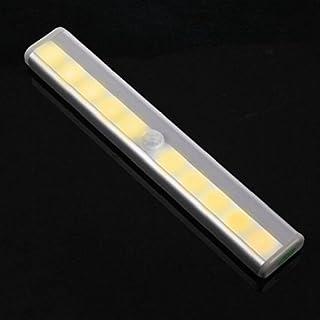 ALCYONEUS Aluminum Alloy 10 LED Motion Sensor Night Light Closet Lamp with Magnetic Strip (Warm White)