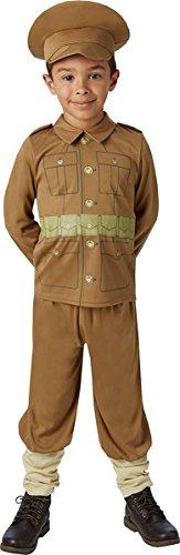 onlyglobal 1. Weltkrieg Soldat Jungen Kostüm Weltkrieg One Kinder Uniform Armee Kostüm Outfit - Braun, L (7-8 years) - Bronze 8 Arm