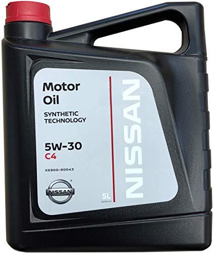 Nissan Olio Motore Originale 5W-30 C4, 5 Lit