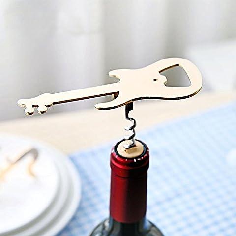 Y & B Multifonction en acier inoxydable 5pièces Rouge vin bière ouvre-bouteille
