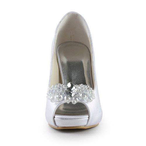 Jia Jia Wedding 085561 Scarpe Sposa Scarpe col tacco donna Bianco