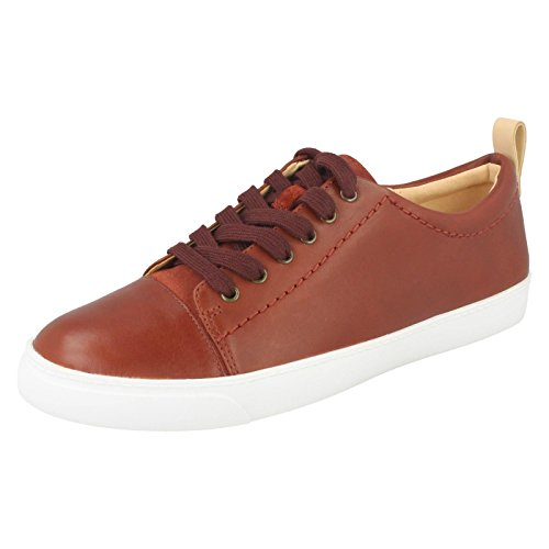 Clarks Glove Echo Leather Shoes In Rust Standard Fit Size 6