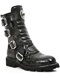 NEWROCK 1471 S5 Damen Comfort Fit Vintage schwarze Blume Goth Punk New Rock Stiefel EU 36-42