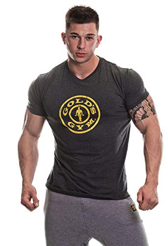 Golds Gym T-Shirt Stronger Than Excuses, Größe:S, Farbe:dark grey