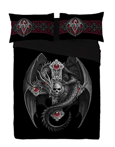 GOTHIC DRAGON - DUVET & PILLOW COVERS CASE SET DOUBLE / FULL TWIN Art by Anne Stokes by Wild Star Twin Hearts Wild