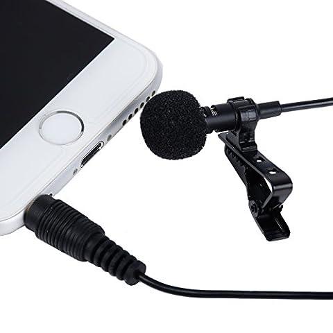 I3C Micro-Cravate Omnidirectionnel Audio Enregistrement Microphone à Condensateur pour iPhone iPad iPod Touch Samsung et d'autre