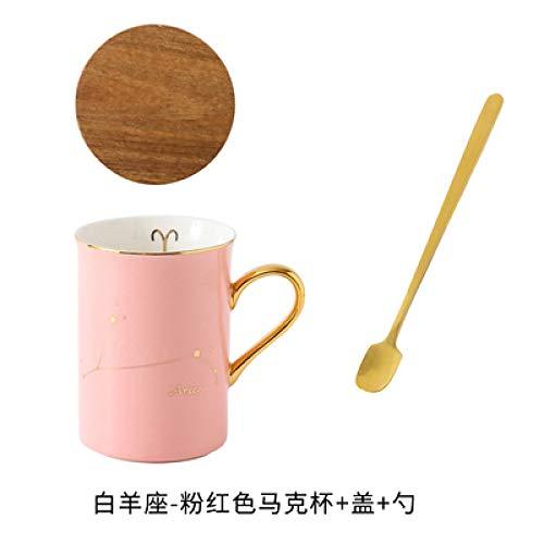 Keramische Konstellation der Schale zwölf kreative Wasserschalenmarkierungsschale keramische Paarschale, zum der Kaffeetasse mit Deckel zu schalen