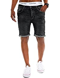 Urban Surface Herren Jeans Bermuda im 5-Pocket Stil JoggJeans Jeans Shorts Washed Denim Used Look 29 30 31 32 33 34 36 38