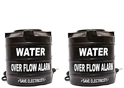 Celebrave Combo Pack of 2 Water Tank Overflow Alarm with Voice Sound, Normal Size (Black)