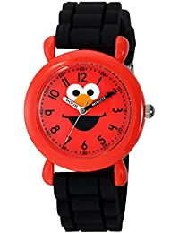 eWatchFactory Boy's 'Sesame Street' Quartz Plastic and Silicone Casual Watch, Color:Black (Model: WSS000026)