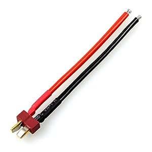 XT-XINTE 1 pcs style Deans T fiche mâle Fil silicone connecteur avec 11.5CM 14 AWG