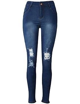 Reasoncool 2017 Womens Denim Skinny jeans stretch matita pantaloni sottili pantaloni lunghi