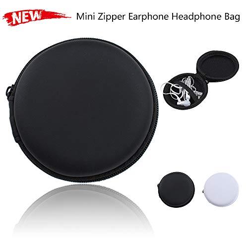 Colorful Tragetasche für Ohrhörer, kopfhörer Tasche Schutztasche Mini Zipper Praktische Tragetasche für In-Ear Kopfhörer Ohrhörer SD-Karte (Schwarz) - 2