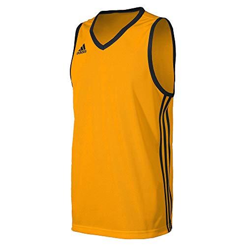 adidas Jungen Baskettball Trikot Commander Jersey, Cogold/Black, 128, G91754