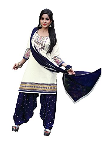 Patiala Dress Material (Clothfab Womens Clothing Patiala salwar suit material for women latest designer wear suit collection in latest Patiala Suit beautiful bollywood Patiala Dress Material for women