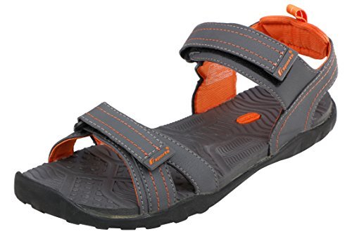 Fsports Men's Grey Orange Colour Jackie Series Synthetic Casual Sandal 8UK  available at amazon for Rs.706
