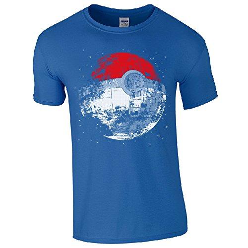 GILDAN Herren T-Shirt Schwarz Schwarz Blau - Königsblau